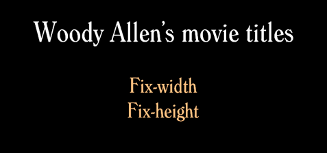 Woody Allen's movie titles